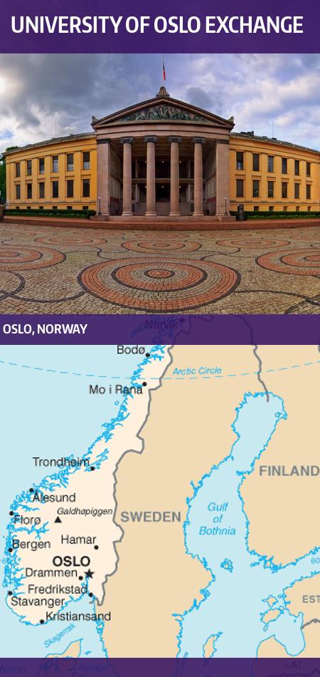 Programs Brochure Study Abroad - Norway universities map